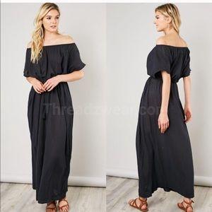 Off-Shoulder Maxi Dress, Various